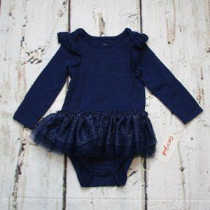Cat & Jack Baby Long Sleeve Tutu Body Suit